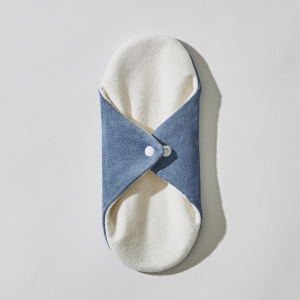 SILK SANITARY NAPKIN / DEEP BLUE