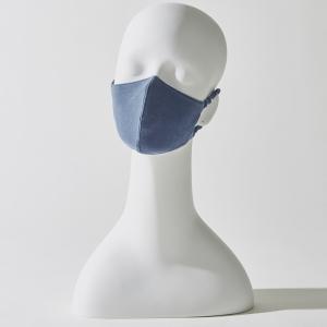 シルク立体マスク:ディープブルー