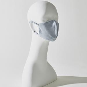 シルク立体マスク:ライトブルー